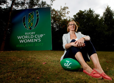 Sarah Jane Belton pictured at the unveiling of the eir Sport broadcast team for its coverage of Women's Rugby World Cup 2017