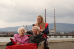 From nursing home to the seaside - by rickshaw