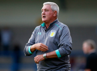 Aston Villa manager Steve Bruce wants to temper expectations.
