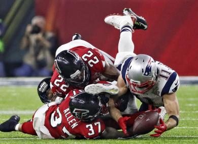 Julian Edelman's miracle catch at Super Bowl LI.