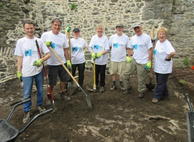 Community volunteers helped uncover burial sites at Swords Castle this week.