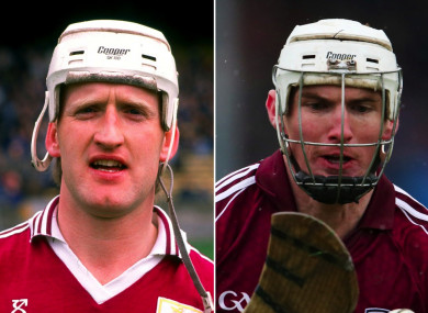 The late Tony Keady and Niall Donoghue.