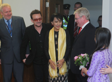 Suu Kyi was awarded the Freedom of the City in 2012.