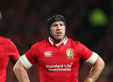 O'Brien featured in all three Tests and was one of the Lions' outstanding performers.