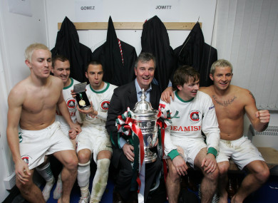 After winning the FAI Cup with Cork City in 2007.