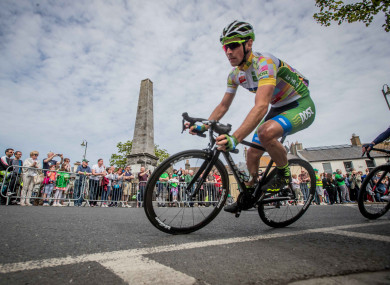 Chain Reaction's Przemyslaw Kasperkiewicz rides to victory at Stage 8 of the 2017 Rás.