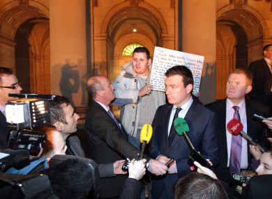 File photo of Alan Kelly at the emergency homeless summit in December.