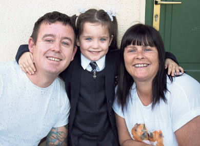 Ger and Noreen Thompson with their daughter
