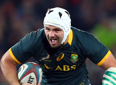 South Africa flanker Heinrich Brussow.