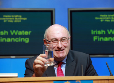 Former Environment Minister Phil Hogan, who brought established Irish Water.