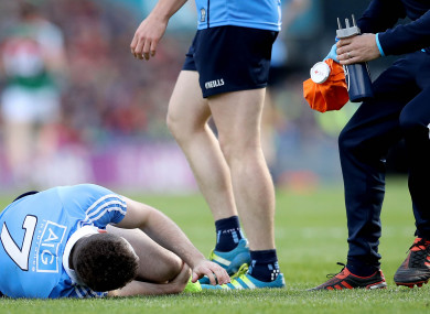 McCaffrey sustained the injury during Sunday's All-Ireland final.
