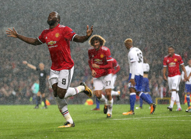 Lukaku scored his sixth goal in six games for United.