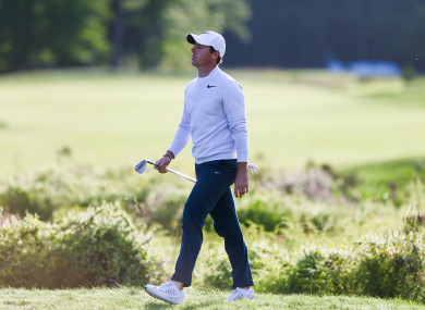 McIlroy was frustrated with a three-over 74 in the second round.