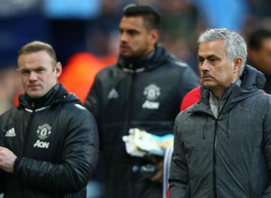 Wayne Rooney and Jose Mourinho.