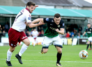 Greene, right: goal and an assist, but it wasn't enough to earn Bray all three points.