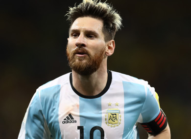 Argentina captain Lionel Messi.