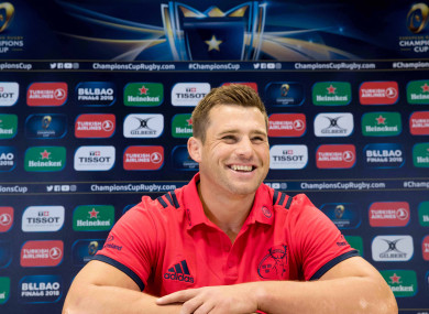 Stander speaking to the media in UL on Tuesday.