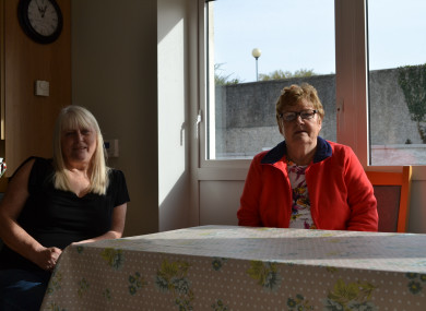 Sarah Duggan (left) and Margaret Baker (right) in the community room of their apartment complex in Ballygall.