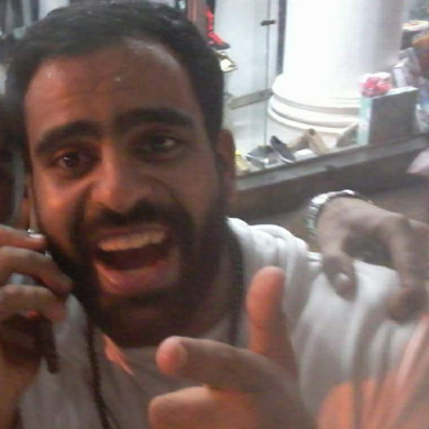 Ibrahim Halawa shortly after being freed