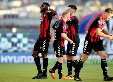File pic of Izzy Akinade celebrating for Bohemians.