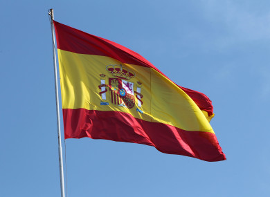 Spanish flag (file pic).