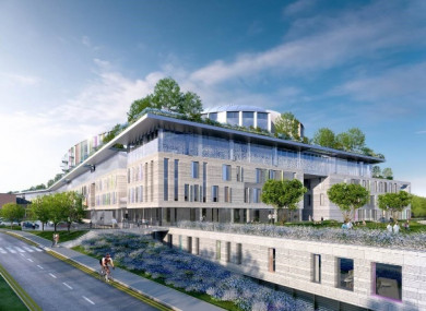The projected design of the new hospital.