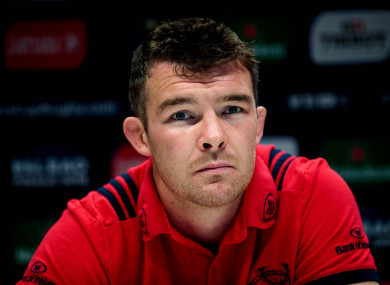 O'Mahony speaking to the media in UL on Tuesday.