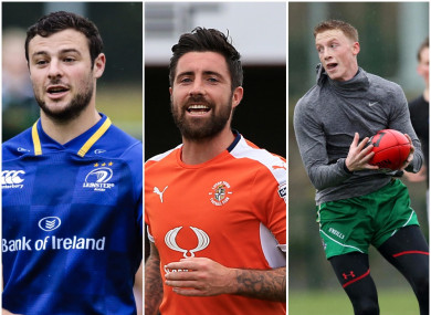 Henshaw, Sheehan and Connellan all making their way in sport.