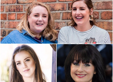 (Top) Emer McLysaght and Sarah Breen; (Left) Louise O'Neill; (Right) Marian Keyes