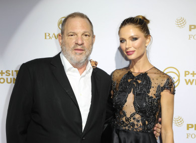 Harvey Weinstein with his wife Georgina Chapman