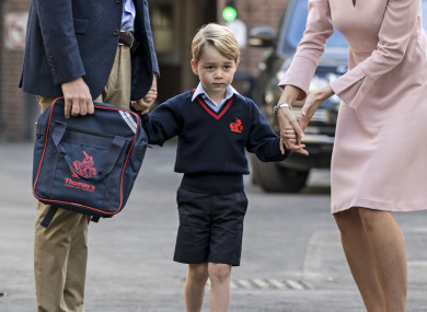 Prince George on his first day at school.