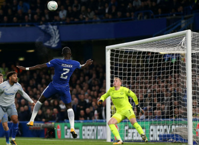Antonio Rudiger's header helped send Everton out of the EFL Cup.