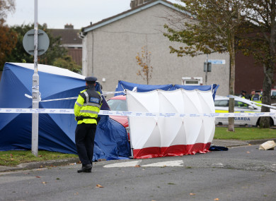 The scene at Moatville Avenue in Coolock.