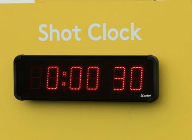 A shot clock.