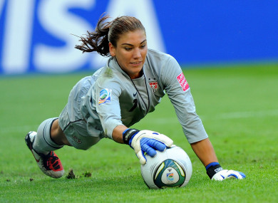 Hope Solo spoke at the One Zero conference in Dublin this week.