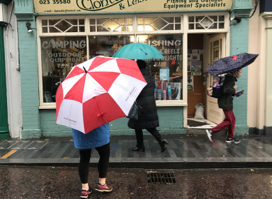 Clonakilty awaits the arrival of Storm Brian as rain starts to lash the West Cork town