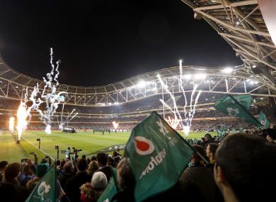 The Aviva Stadium hosts next month's Autumn internationals.