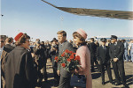 John F Kennedy and his wife Jacqueline, arriving at Love Field, Dallas, on the morning of 22 November 1963