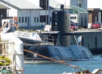 The ARA Santa Cruz, a similar submarine to the San Juan.