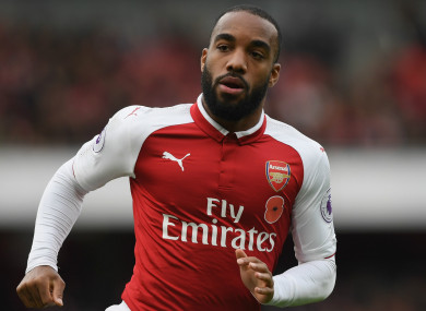 Lacazette has seven goals this season.
