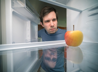 Er, why is there an apple in the fridge?