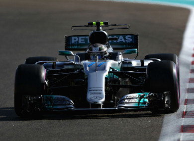 Valtteri Bottas in action in Abu Dhabi.