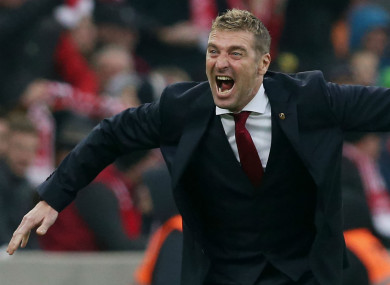 Spartak Moscow coach Massimo Carrera.