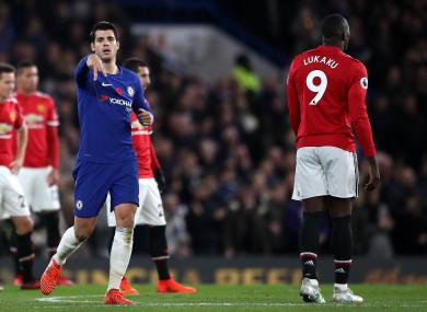 Chelsea's Alvaro Morata celebrates scoring.