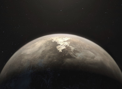 An artist's impression of the planet.