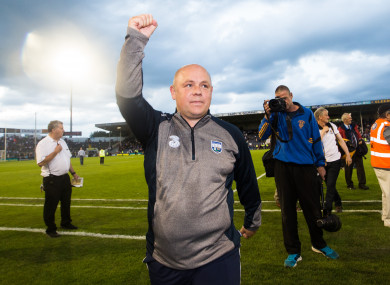 Derek McGrath after the summer's victory over Kilkenny.