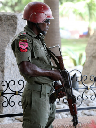 File photo of an army security force officer.