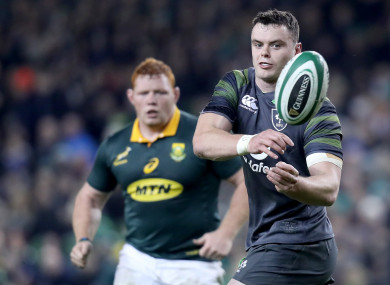 Ryan sustained a bang after coming off the bench against South Africa.