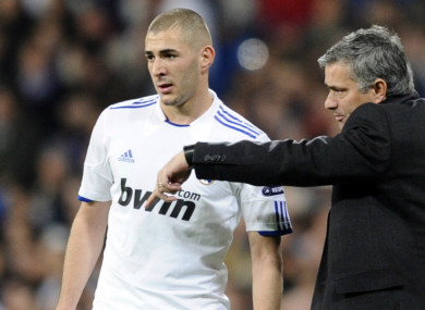 Benzema was not happy when Mourinho compared him to a cat.