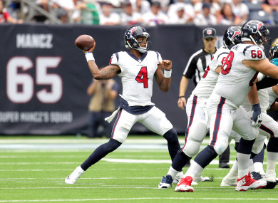 The Texans -- and NFL fans -- will lament the loss of Deshaun Watson.